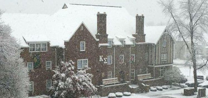 308 North Street in the Snow